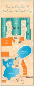 Map of the facility from a brochure handed out by the Mirage
